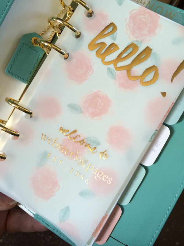 Inside my new Color Crush planner ~ The First Page